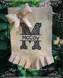 Monogram House Flags Burlap Garden Flag Personalized Flag Monogrammed Garden