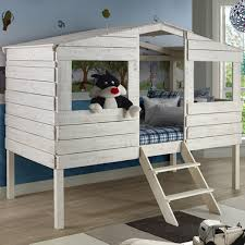 Rustic Tree House Loft Bed Twin Size Low Loft Bed For Kids - Treehouse bunk beds