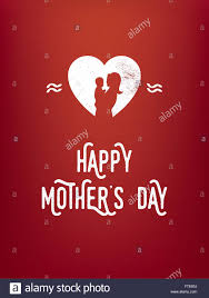 mother s day card designs mother u0027s day card template with woman and baby silhouette in a
