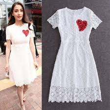 turmec short sleeve knee length white dress