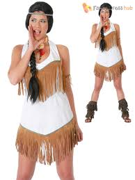 Pocahontas Halloween Costume Women Ladies Red Indian Costume Adults Pocahontas Fancy Dress Native
