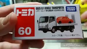 tomica nissan march 3月新 march new tomica unboxing no 60 lsuzu elf vehicle