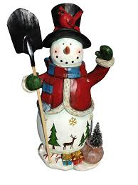 Floor Hand by 20 U201d Tall Christmas Snowman Figure Hand Painted Artisan Vintage