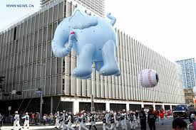 thanksgiving day parade held in houston xinhua