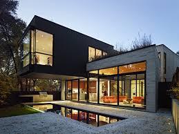 design house exterior lighting beautiful green white glass modern design tree landscaping ideas