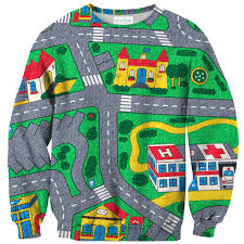 Kids Play Rugs With Roads by Carpet Track Sweater Shelfies