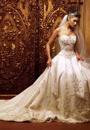 gold wedding dress white and gold wedding dresses weddingcafeny
