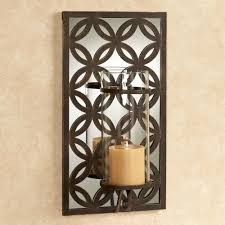 Torch Wall Sconce Torch Sconces 1 Light Mirrored Candlestick Wall Sconce In Antique