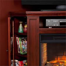 Corner Fireplace Tv Stand Entertainment Center by Southern Enterprises Claremont Corner Fireplace Tv Stand In Cherry