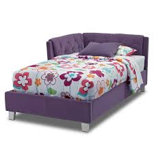 Purple Corner Sofas Jordan Twin Corner Bed Purple Value City Furniture