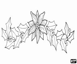 poinsettia coloring pages christmas coloring pages printable games