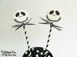 nightmare before halloween nightmare before christmas jack skellington marshmallow pops