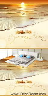 summer time sunset shell pearl 00064 floor decals 3d wallpaper