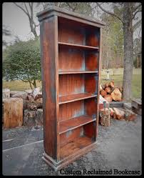 custom reclaimed wood bookcase distressed bookcase handcrafted