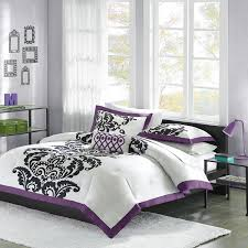 Black And Purple Bed Sets Amazon Com Mizone Florentine 4 Piece Comforter Set Full Queen
