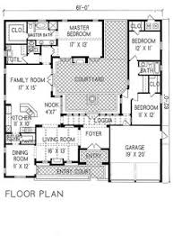 courtyard house plan u shaped house plans with central courtyard change left wing to 2