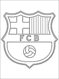 soccer coloring pages coloring logo barcelona