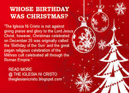 the iglesia ni cristo why iglesia ni cristo does not celebrate