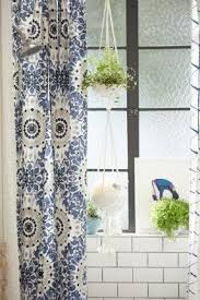 blue and white shower curtains foter