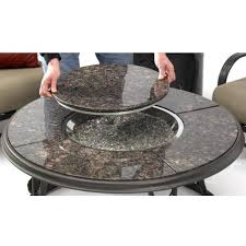 Gas Fire Pit Kit by 42 Inch Chat Propane Gas Fire Pit Table With Granite Top And Lazy