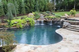 pools with waterfalls pools and waterfalls traditional pool atlanta by joe a