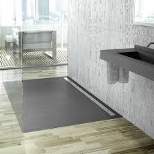 Black Slate Laminate Flooring Fiora Elax Designer Black Slate Low Profile Linear Shower Tray