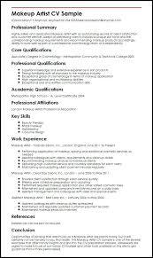 format artist resume makeup artist resume samples visualcv resume