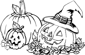 Free Halloween Coloring Page by Halloween Coloring Pages Of Pumpkins Olegandreev Me