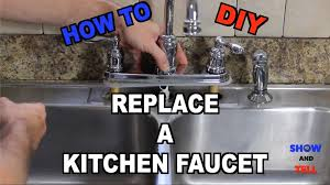 removing an kitchen faucet how to replace a kitchen sink faucet 20 steps with pictures