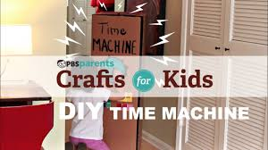 diy cardboard time machine crafts for kids pbs parents youtube
