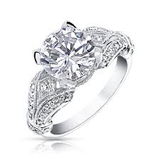 925 sterling silver engagement rings 925 sterling silver 3ct cz solitaire engagement ring