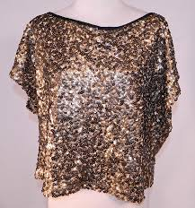 metallic gold blouse vintage deco sheer gold metallic sequin beaded blouse