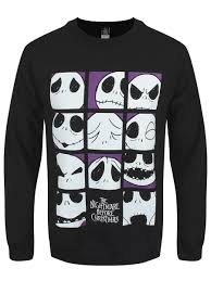 nightmare before many faces of s black sweater