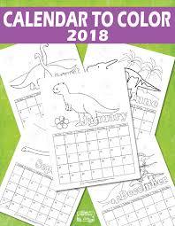 printable calendar kids 2018 itsy bitsy fun