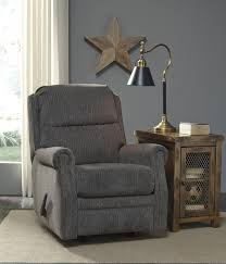 buy earles flannel rocker recliner by signature design from www