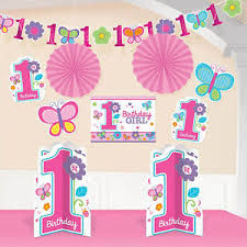 1st birthday girl 10 sweet pink butterfly girl s happy 1st birthday party