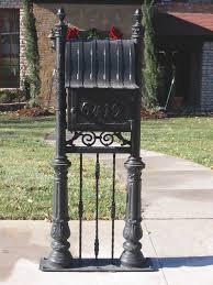 mailboxes apollo ornamental iron