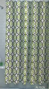 Shower Curtain Amazon Amazon Com Alison Fabric Shower Curtain Olive Lime Green Brown
