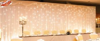 wedding backdrop led aliexpress buy 2017 3x6m white silk wedding backdrop wedding