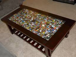bottle cap table designs extraordinary home tips including beer bottle cap coffee table