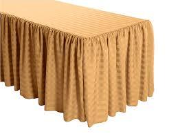 8 ft table skirt purchase shirred stripe polyester table skirt online