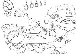 coloriage cuisine index of coloriage cuisine plats viande poisson