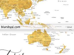 niue on world map personalized print gold world map with cities in faux gold foil