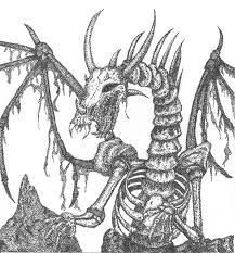 6 pics of skeleton dragon coloring pages bone dragon drawings