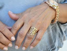gold monogram ring gold monogram ring ebay