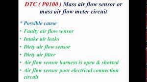 nissan maxima mass air flow sensor p0100 mass air flow sensor or mass air flow meter circuit youtube