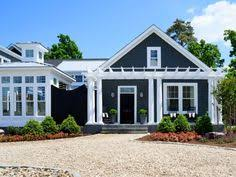 navy exterior paint color beach house painted in navy with white