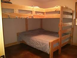 Cabin Bunk Bed King Size Bed On Bottom  Full Size Beds On Top - King size bunk beds