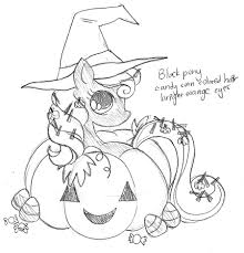 pumpkin halloween pony commission sketch by yampuff on deviantart
