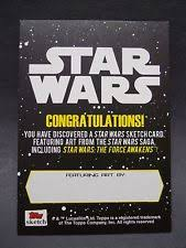Star Wars Congratulations Card Star Wars Trading Cards With Sketches Ebay